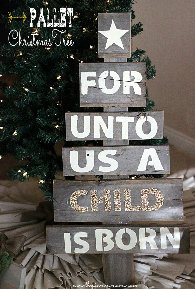 Pallet christmas tree diy