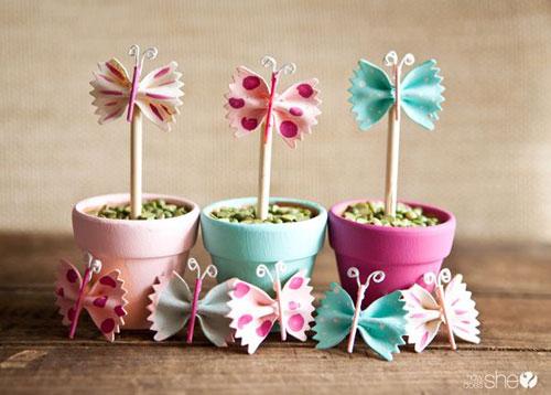 "Pasta butterfly ""flowers"""