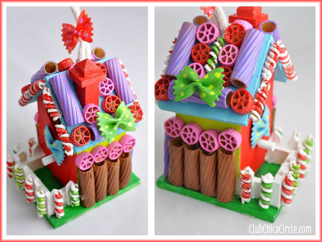 "Pasta ""gingerbread"" house"