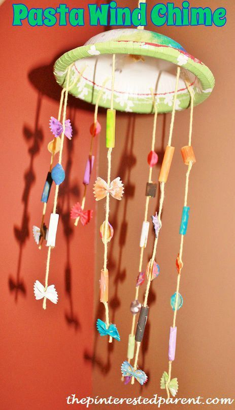Pasta wind chime