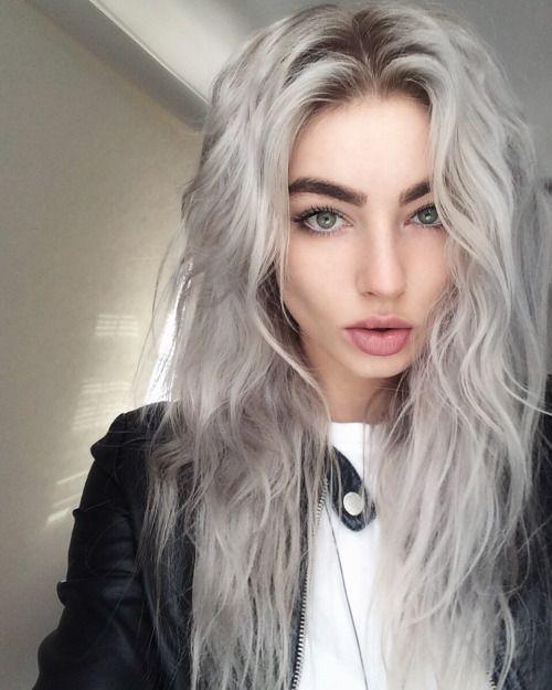 Pastel gray hair