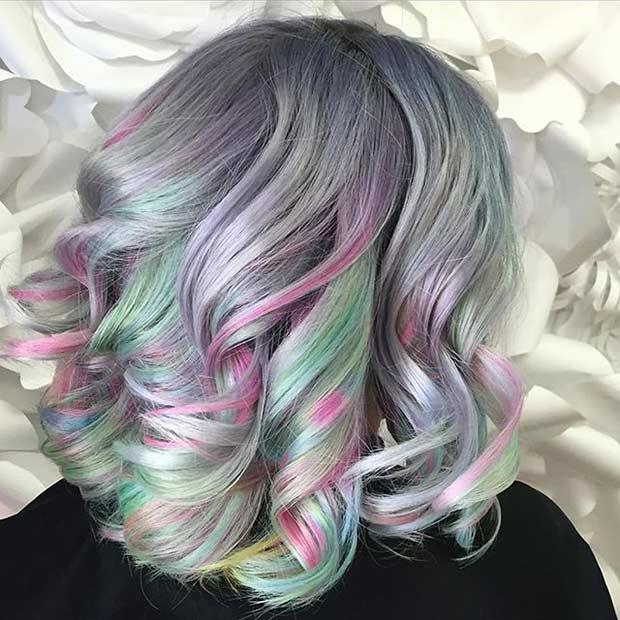 Pastel swirl tone hair