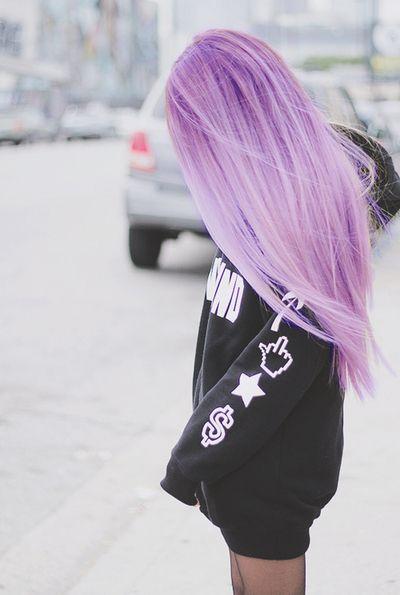 Pastel violet hair color
