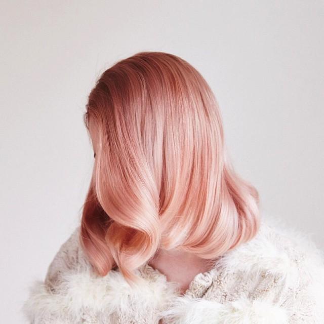 Peach pastel hair