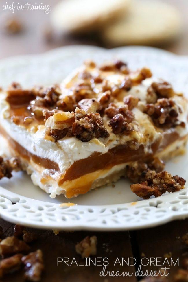 Pralines and cream dream dessert