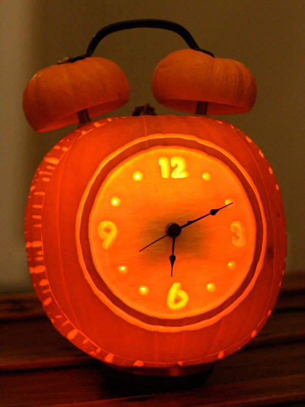 Pumpkin alarm clock