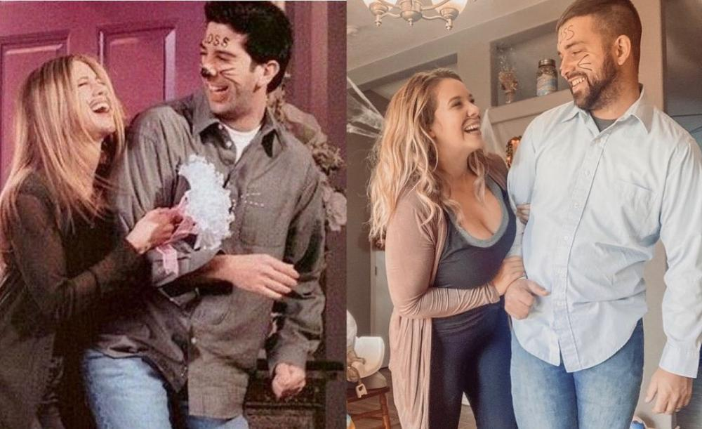 Ross and rachel from friends couples halloween costumes
