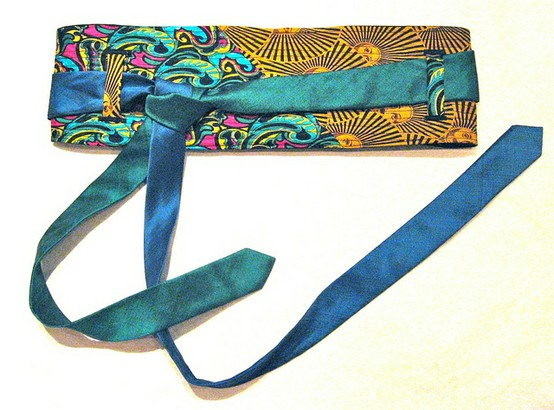 Silk neck tie belt