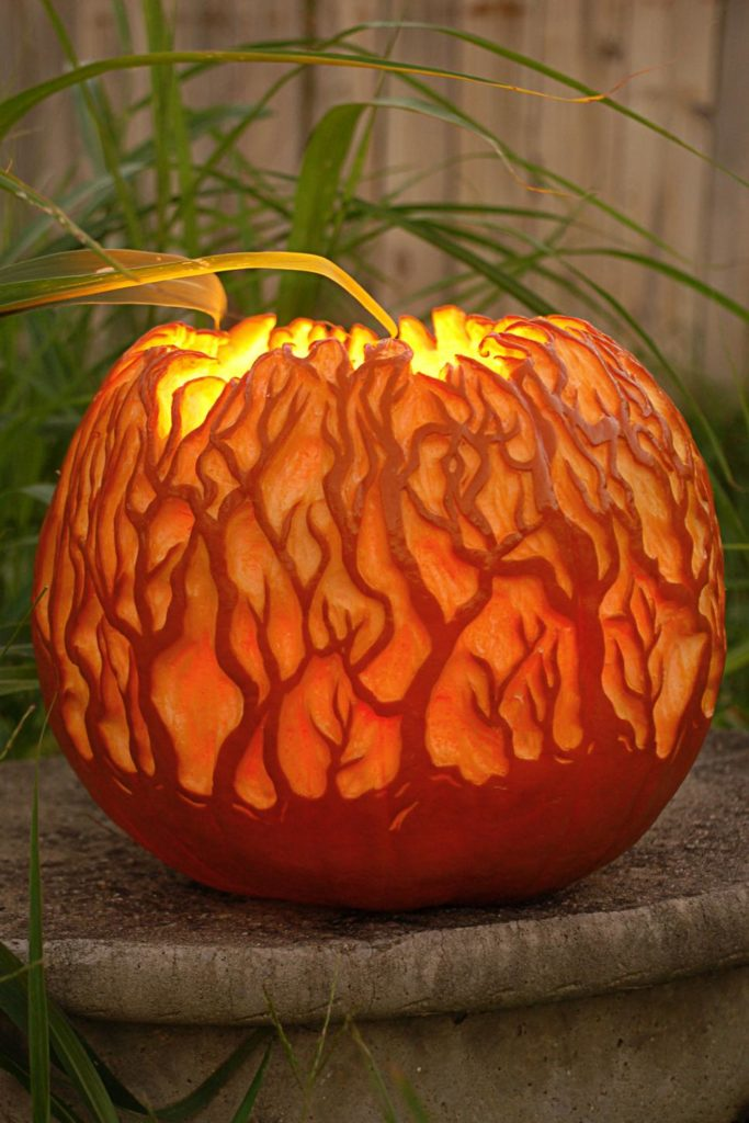 Spooky forest pumpkin