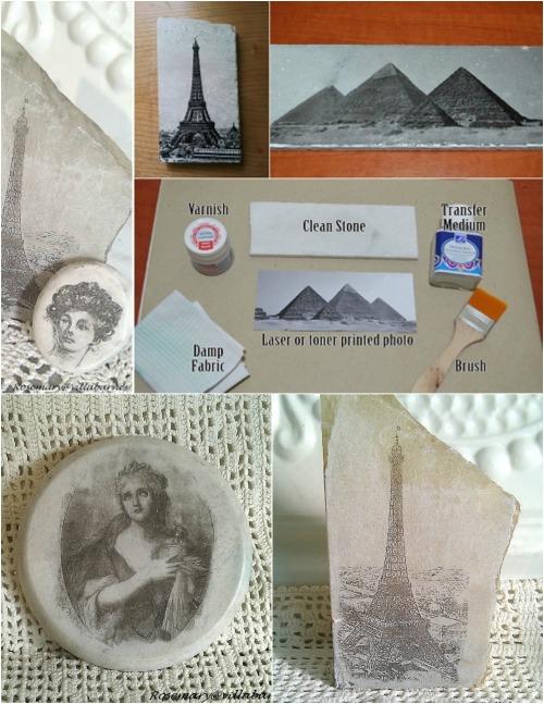 Stone photo transfers