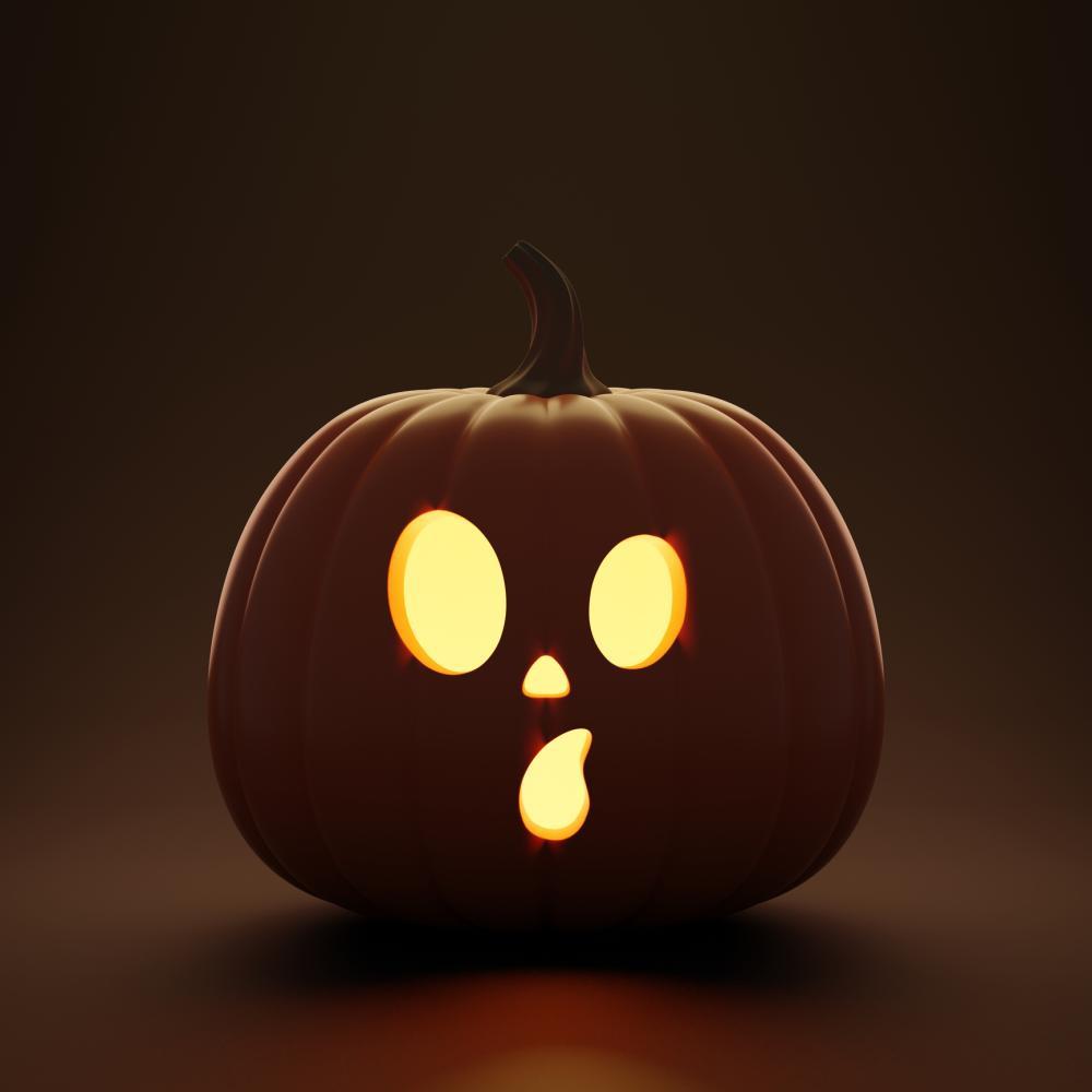 Surprised face cute halloween pumpkin idea