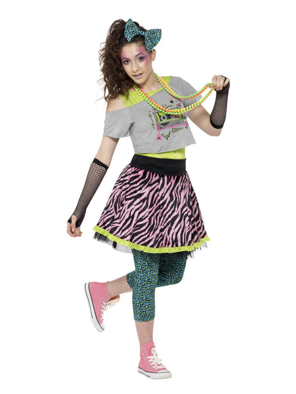 Teen 1980u0027s costume idea  sc 1 st  DIYS.com & 80u0027s Outfits To Wear To Theme Parties Or Halloween Night!