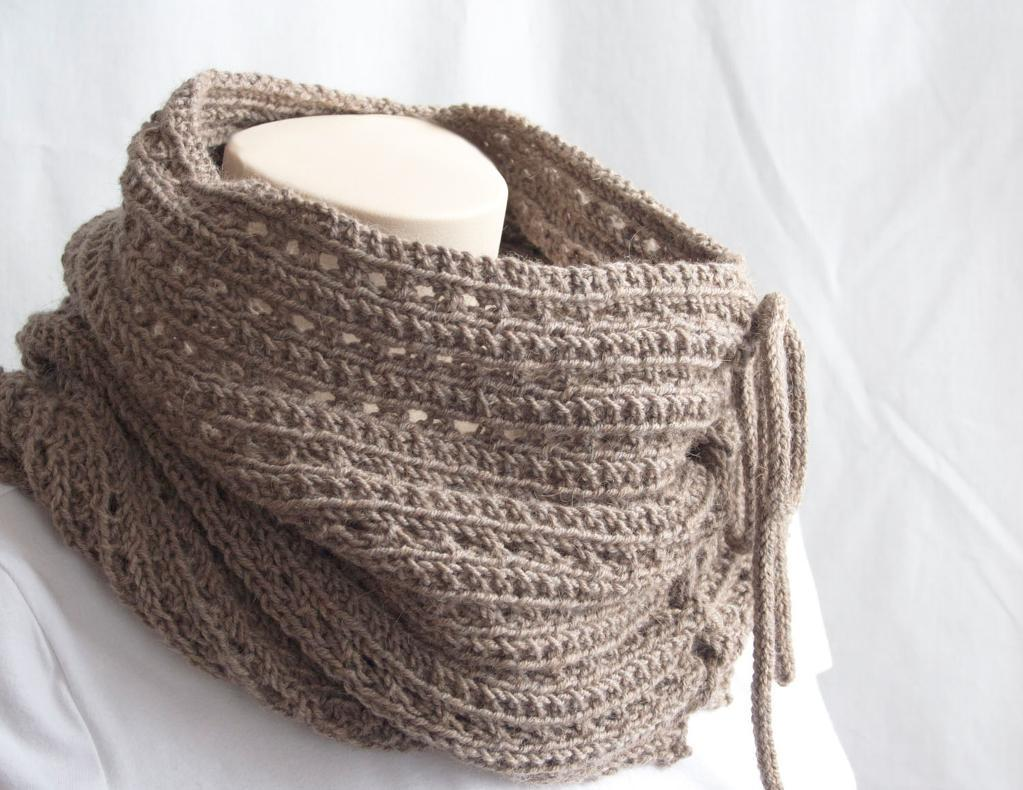 Warm knitted cowls for cold days this gorgeously layered cowl features pretty yarn overs in a consistent pattern between solid seed stitch rows to create a pretty visual effect bankloansurffo Images