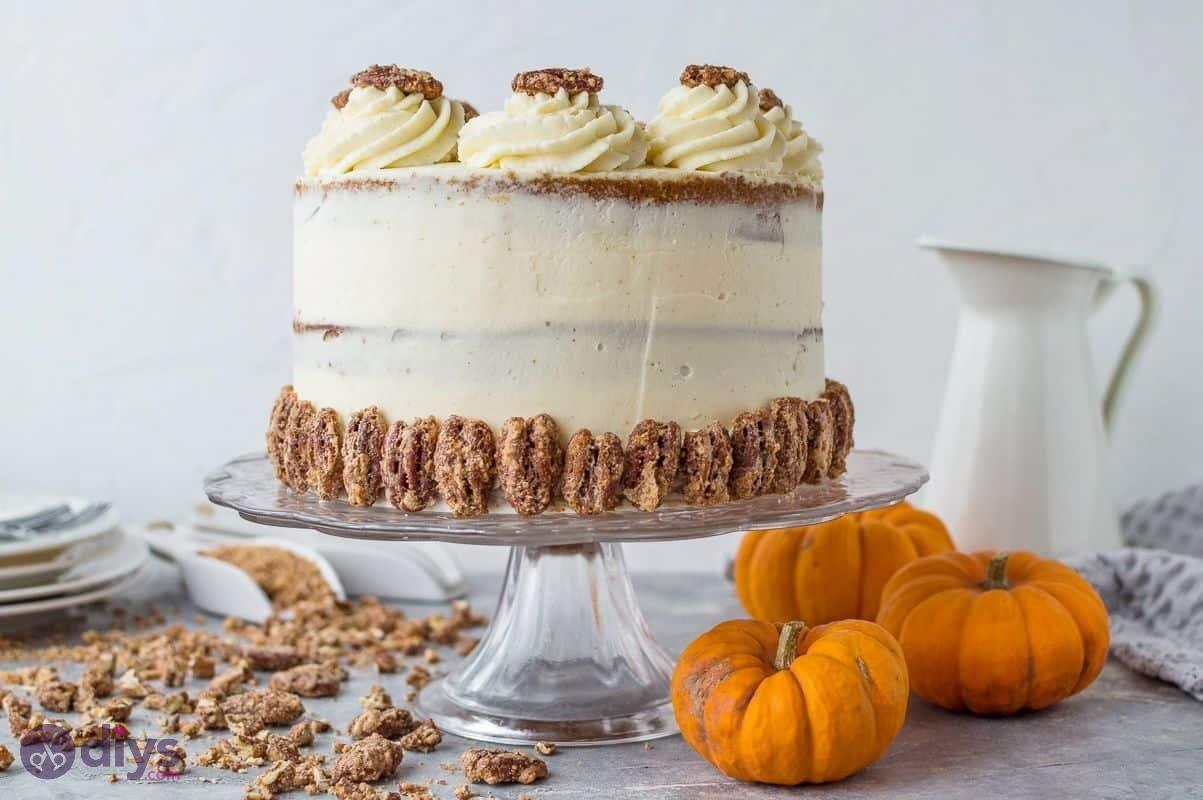 Trick or treating halloween cakes pumpkin layered cake