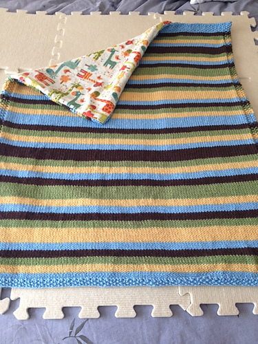 Twin stripes stroller blanket