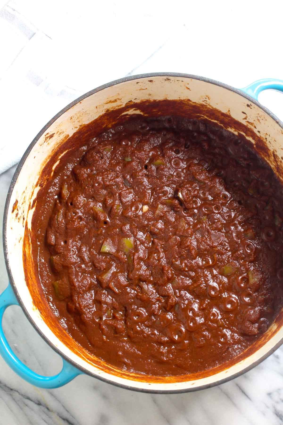 Vegetarian three bean chili sauce
