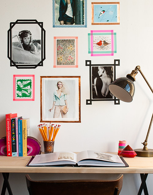 Washi tape frames diy