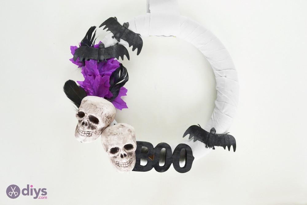 Whimsical wreath halloween front door decorations
