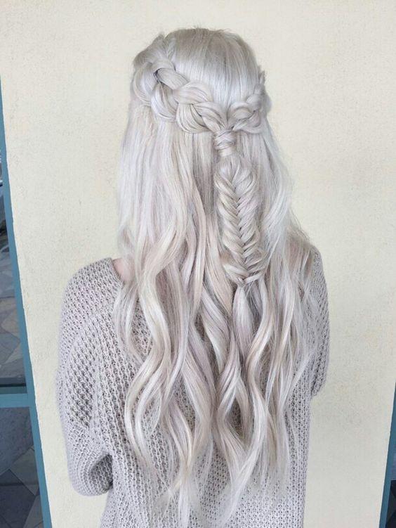 White pastel hair