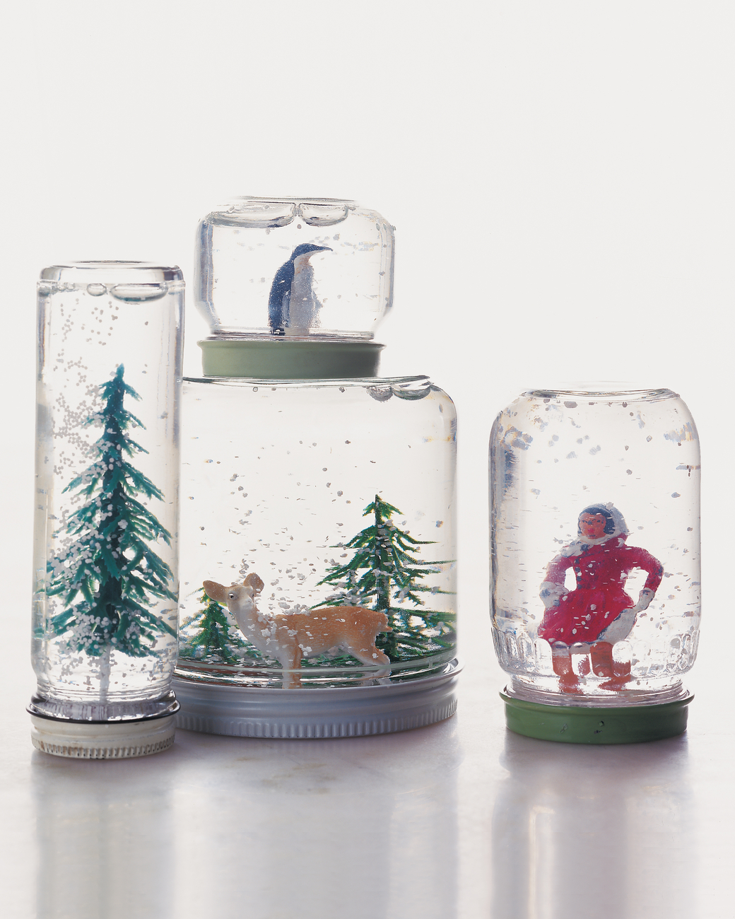 Winter wonderland snowglobe diy