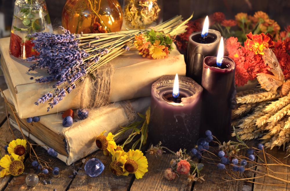 Witchy home decor halloween scented candles