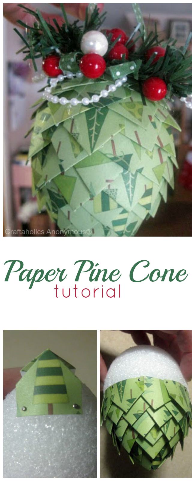 Wrapping paper pine cone