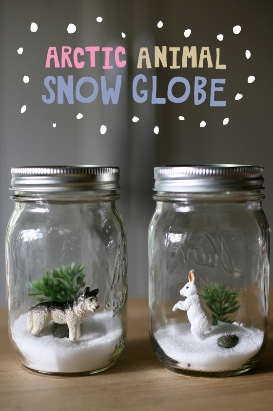 Arctic winter snow globe science craft