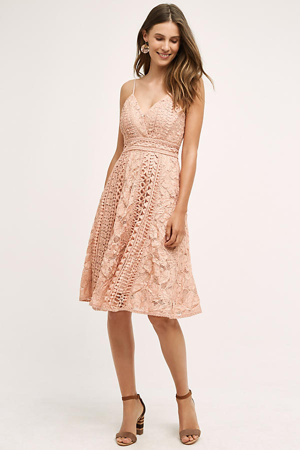 Astrid pink dress anthropology