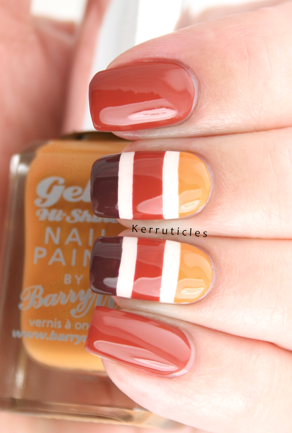 Autumn thanksgiving striped mani