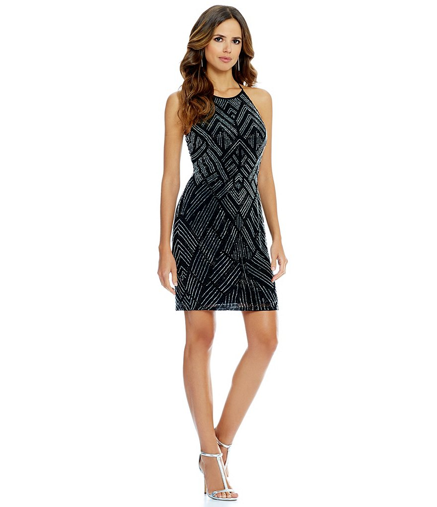 Black and silver dillards dress