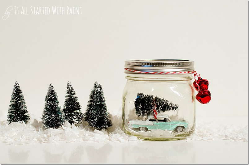 Car with tree in mason jar christmas decoration 4 thumb