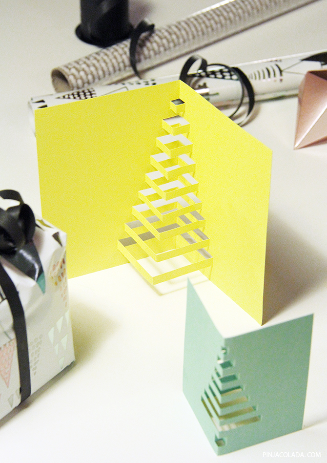 Christmas card diy 0cutout christmas tree