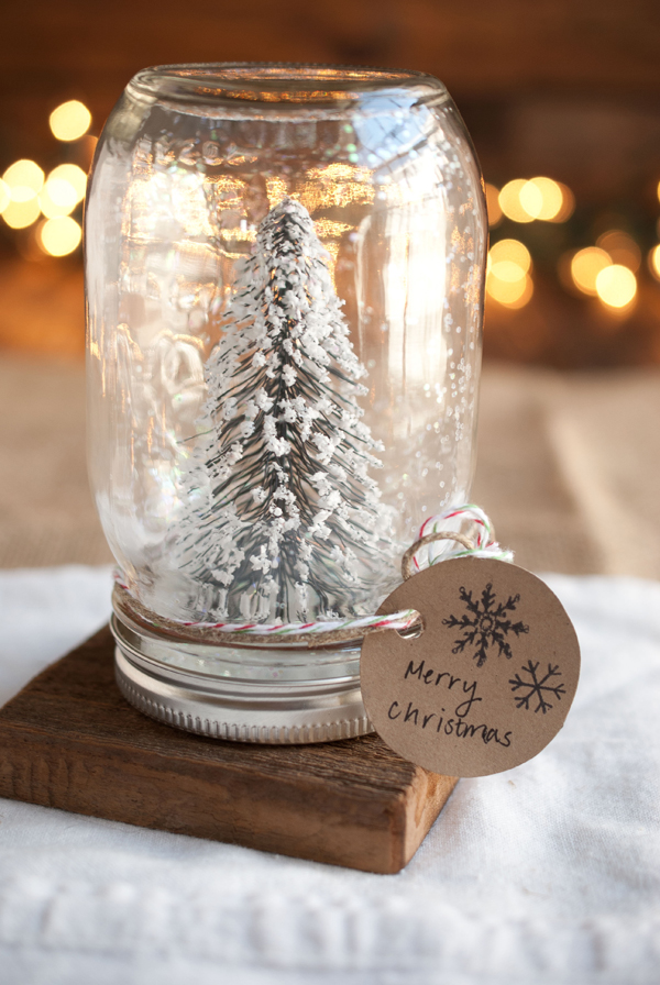 Diy anthropologie snowglobe