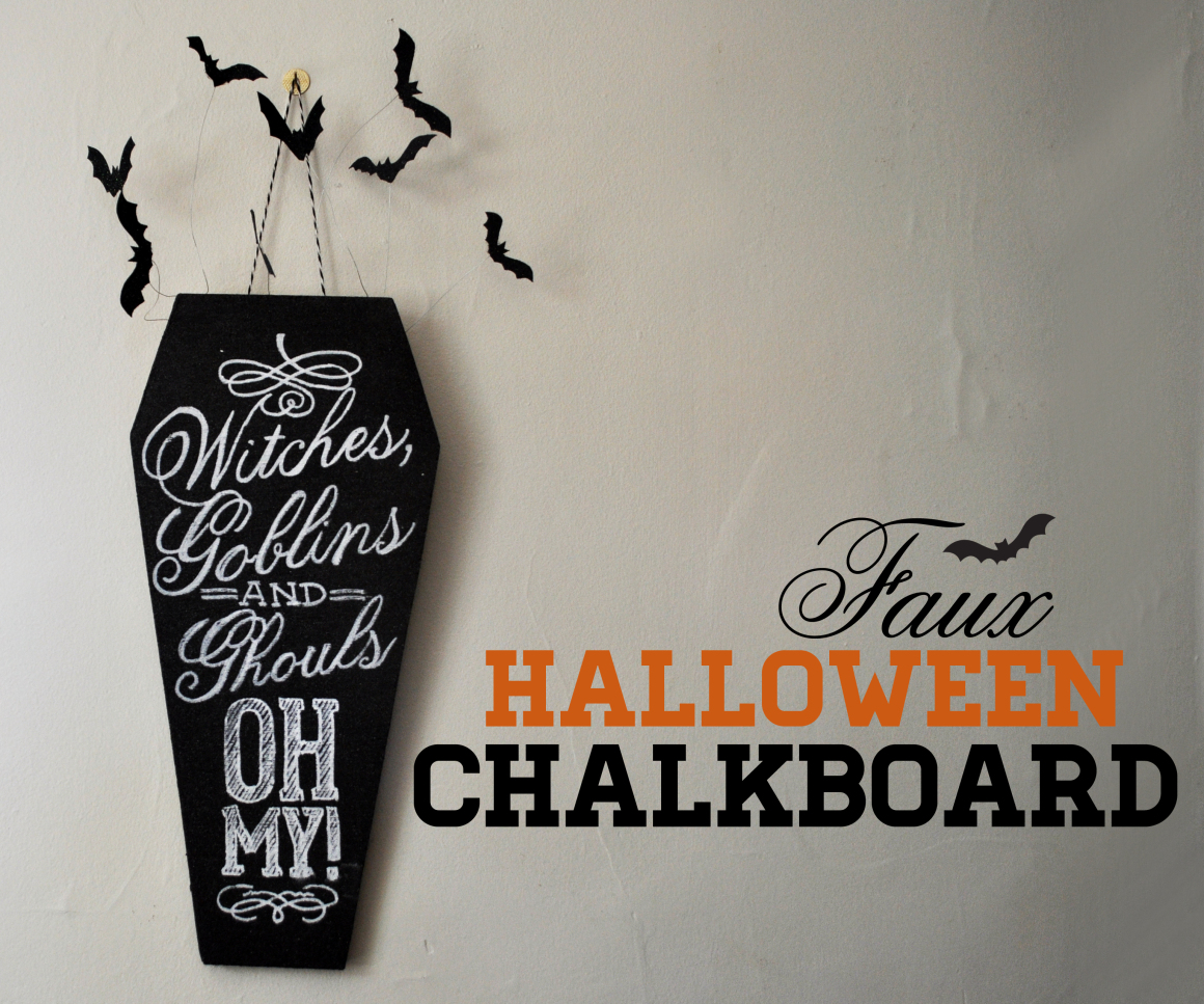 Diy chalkboard coffin