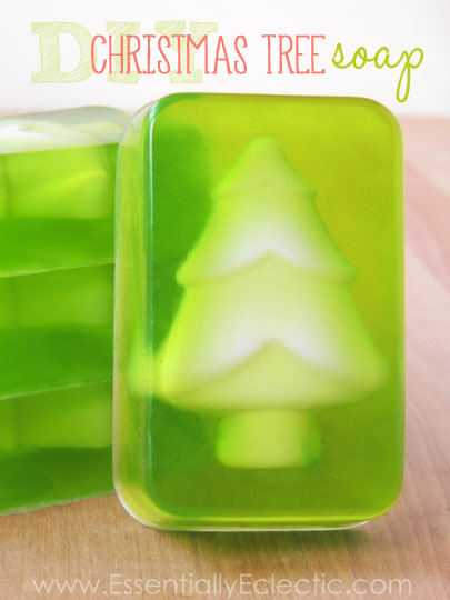 Diy christmas tree soap