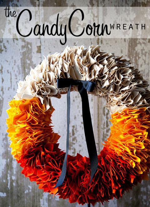Diy halloween ruffle wreath