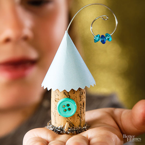Diy mini birdhouse ornament