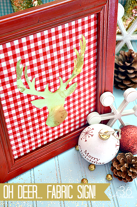 Diy oh deer christmas sign
