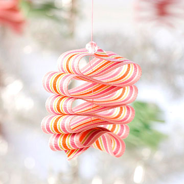 Diy ribbon candy ornaments