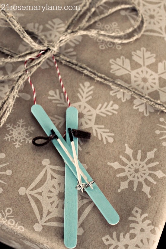 Diy ski ornaments