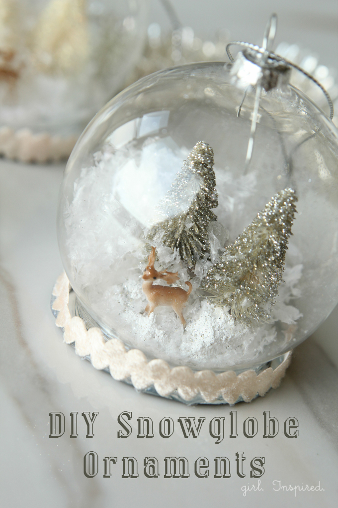 Diy snowglobe ornaments