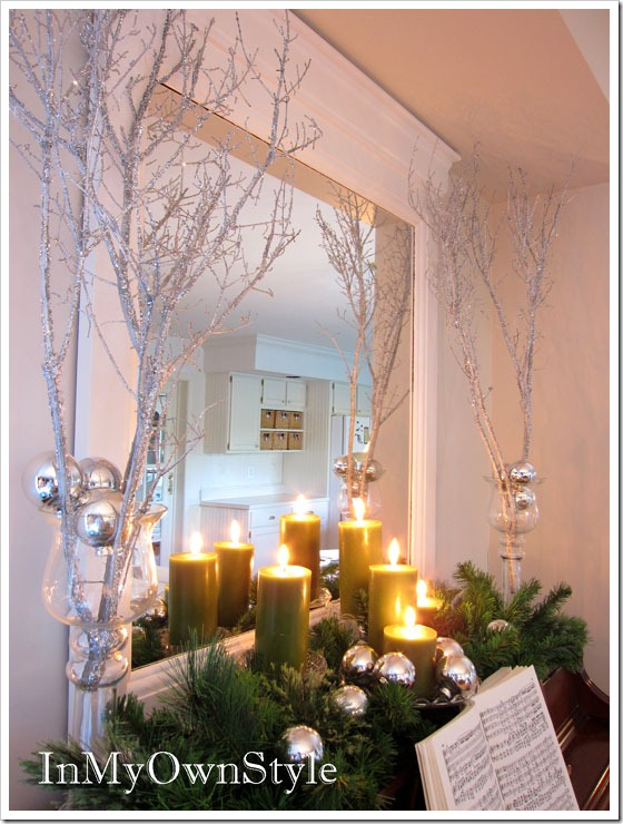 Diy sparkly branches