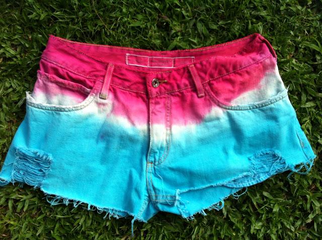 Diy tie dye shorts