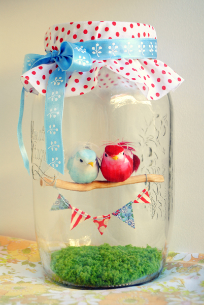 Diy valentine's day snow globe