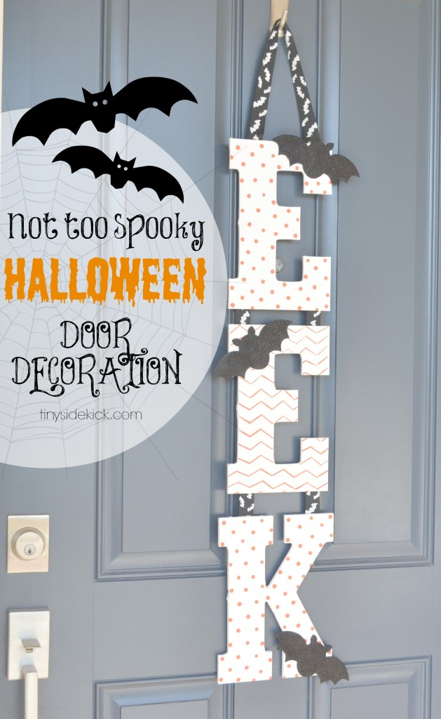 Eek halloween door decor diy