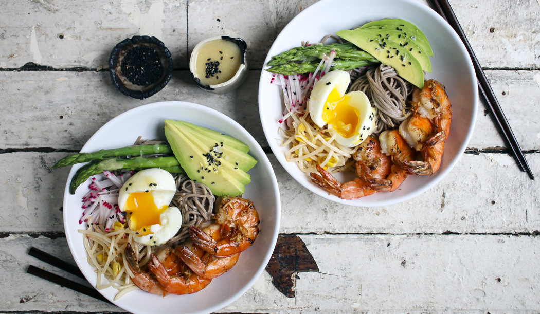 Fresh soba noodle bowl recipe
