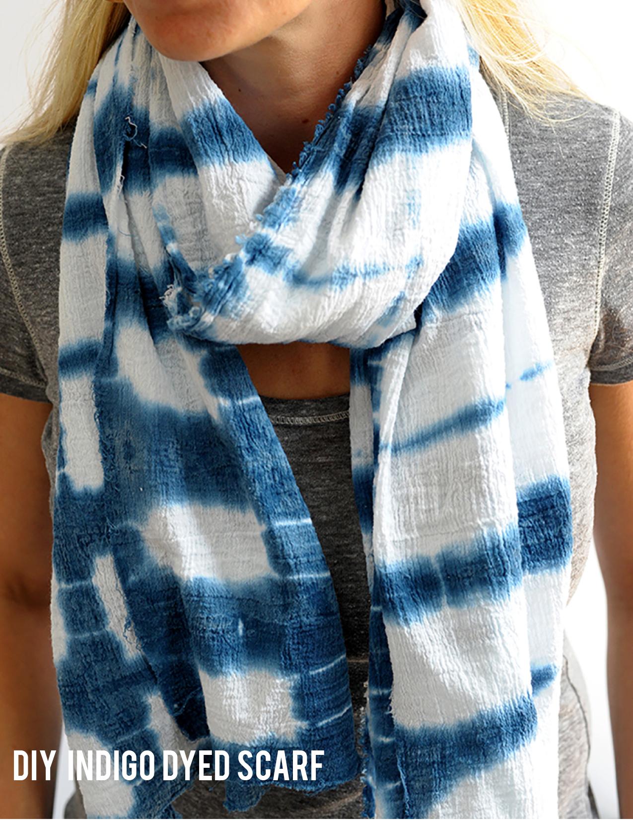 Indigo dyed scarf diy main