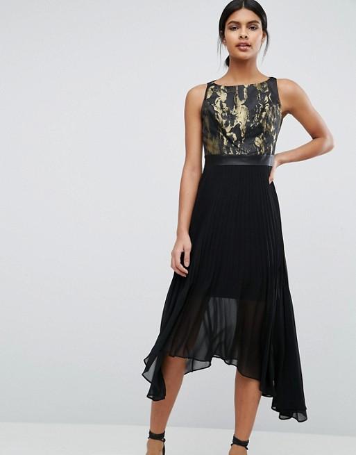 Jacquard black dress asos