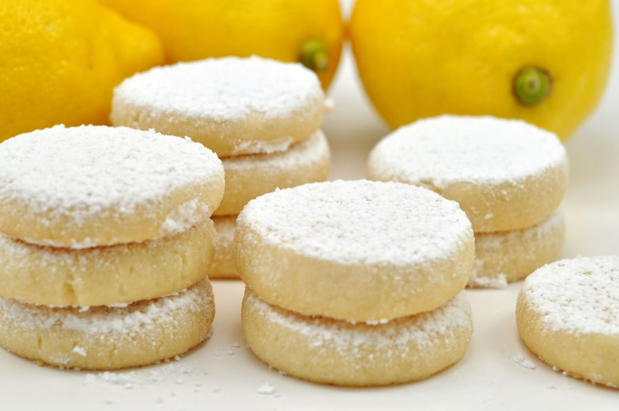 Lemon shortbreads cookies