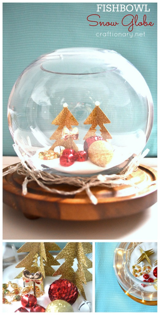 Make diy fishbowl snow globe tutorial craftionary net